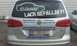 Foto der Weihrauch CarCare Autobeschriftung