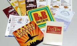 Fotos von Speisekarten die von der Otto Stutzig Werbeagentur erstellt wurden