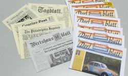 Fotos von Zeitungen die von der Otto Stutzig Werbeagentur erstellt wurden